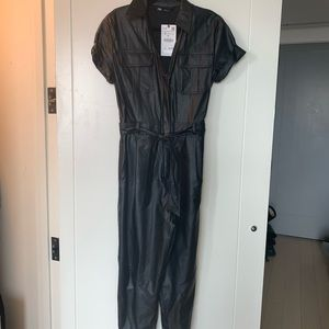 🖤 Zara faux leather jumpsuit, size S